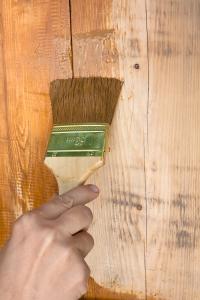 Holz Pflanzschrank nahstreichen